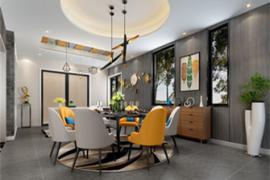 成都别墅装修:餐厅壁画如何设计?
