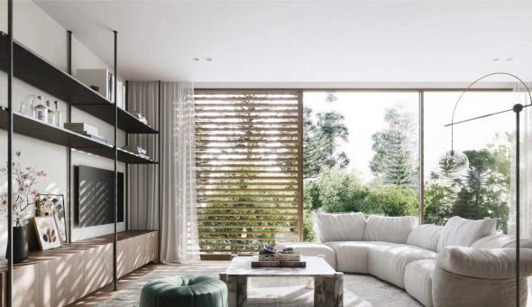 成都蔚蓝卡地亚花园城280平现代风装修效果图